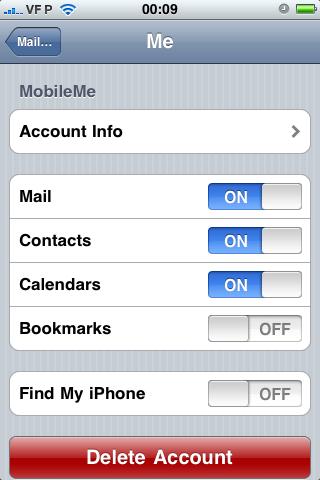 Wi Fi Sync/Find my iPhone
