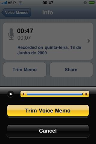 Voice Memos/Trim Audio
