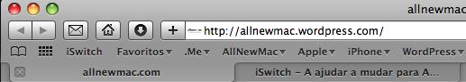 Safari Toolbar