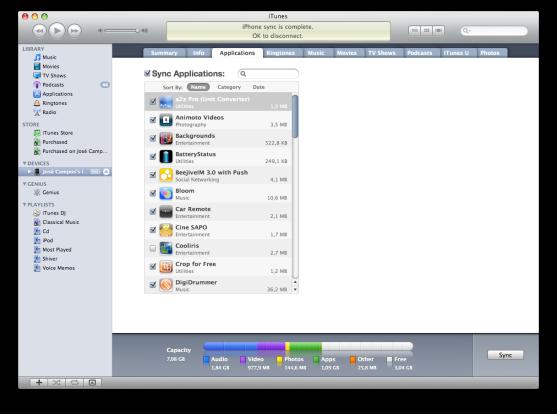 iTunes 9 Apps