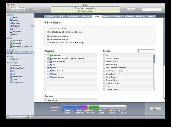 iTunes 9 Music